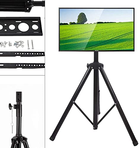 SHZICMY Tripod TV Stand, Portable Adjustable Height Tripod TV Stand Television LCD Flat Panel Monitor Mount Fits 34 to 50 Flat Screens USA Stock