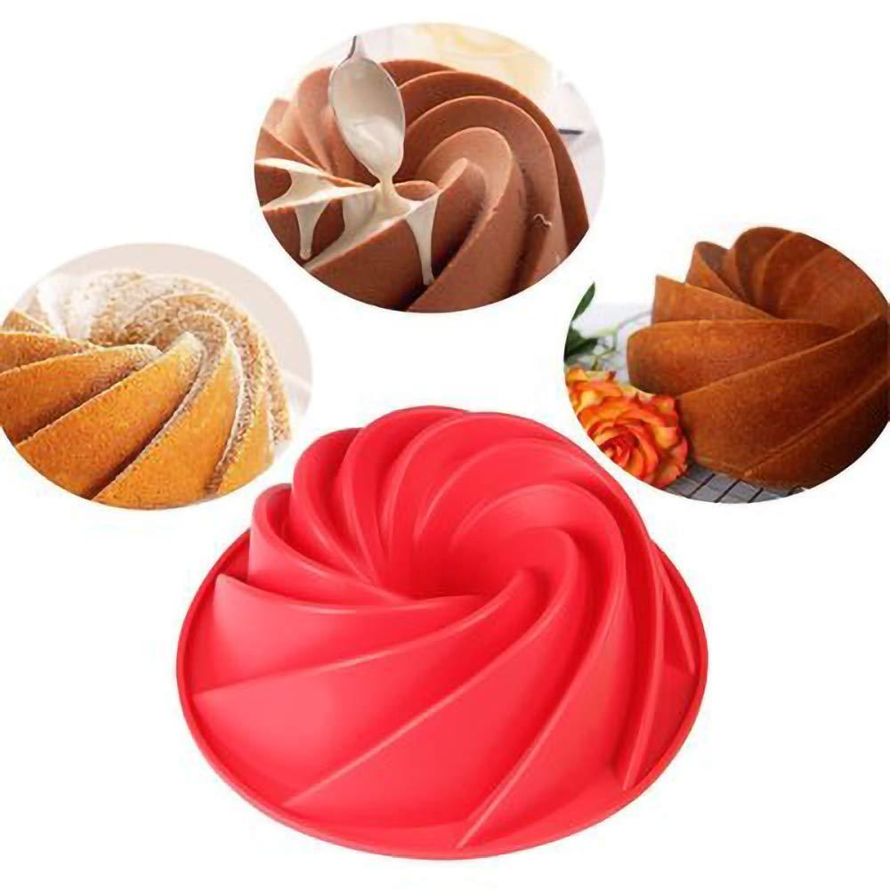 KDSANSO Moule /À Chocolat en Silicone,Moulle /à G/âteaux Mousse Pain Chocolat Fondant D/écoration de G/âteaux 3D DIY Moule Boulangerie pour Anniversaire Saint Valentin Party 9cm Rouge 24