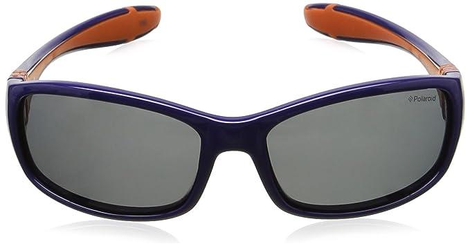 Polaroid Unisex-Kinder PLD 8000/S Y2 T19 50 Sonnenbrille, Blau (Bluette Orange/Grey Pz)