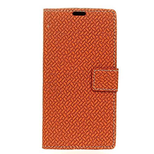 YHUISEN Patrón de armadura de cierre magnético de cuero de la PU Cartera Flip Folio caso con soporte / tarjeta de ranura cubierta de la caja protectora para Huawei Mate 9 ( Color : Purple ) Brown