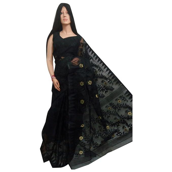 Amazon.com: Tradicional handoom dhakai Jamdani sari trabajo ...