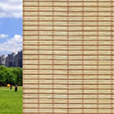 Qualsen Window Film Bamboo Static Decorative Privacy Window Films Non-adhesive Anti Uv Window Sticker for Home Kitchen Bedroom Living Room (23.6 x 78.7inch)