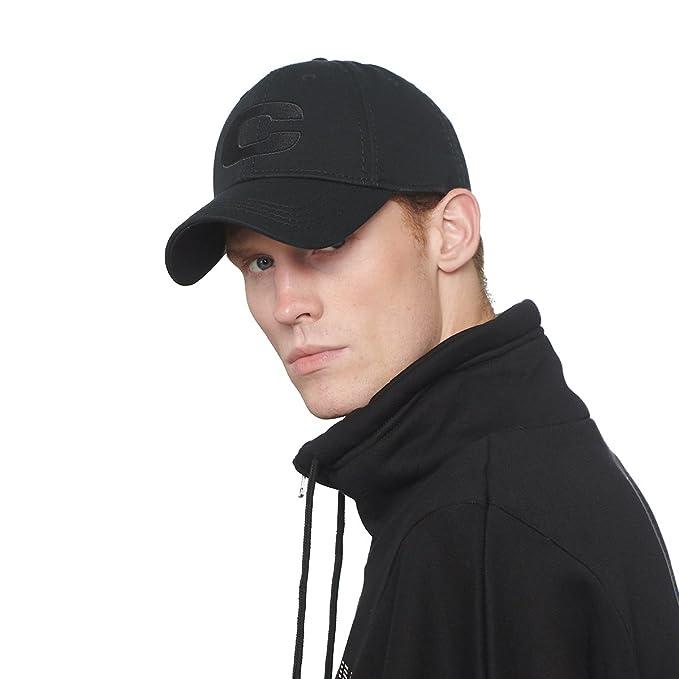 CACUSS Men s 100% Cotton Classic Baseball Cap Dad Hat Adjustable Comfy Polo  Golf Cap Trucker f8900a5b70f