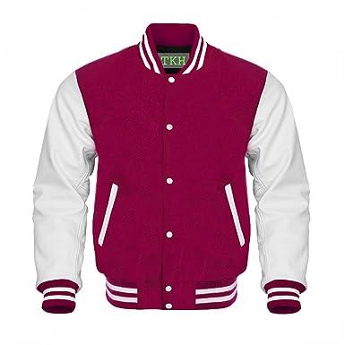 Jacket Maroon Blind Jackets Leather Custom Men's Letterman Sleeves Wool Amazon White Baseball Design At Store Varsity Clothing