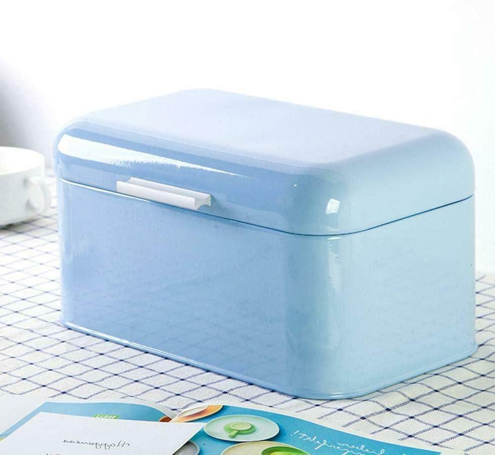 kangOnline Caja de Pan, Cajas de Pan para Cocina, Caja de Almacenamiento de Caja de Pan de Metal Estilo Europeo Contenedor de Cocina Retro Color sólido: Amazon.es: Hogar