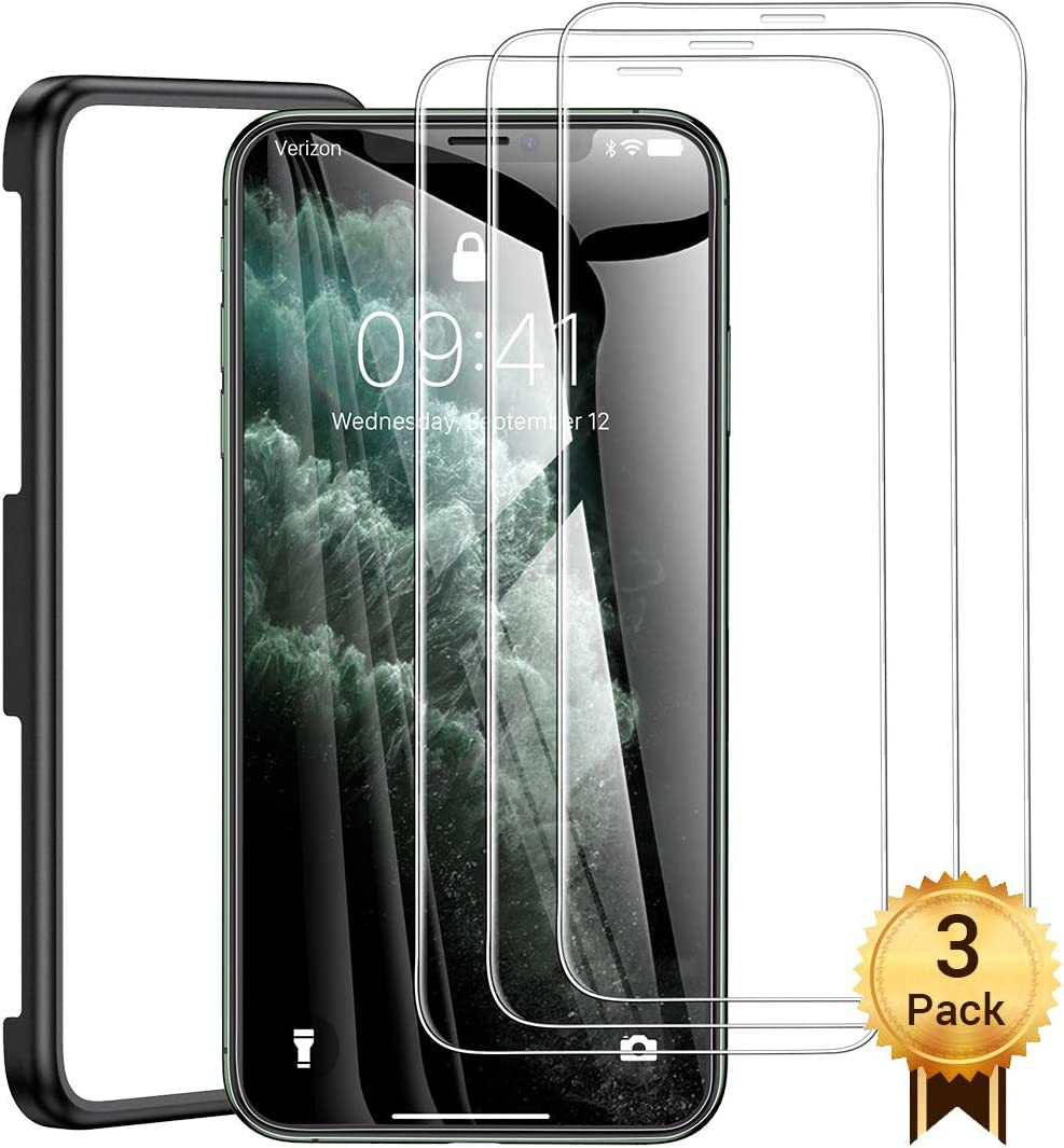 AINOPE Install Frame 3 Packs iPhone Xs Max Tempered Glass Screen Protector Case Friendly for Apple 6.5 /& iPhone 11 Pro Max Screen Protector Compatible with Apple iPhone 11 Pro Max /& iPhone Xs Max
