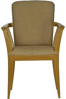High Street Design Beech Winsor Chair With Coffee Fabric Cushion