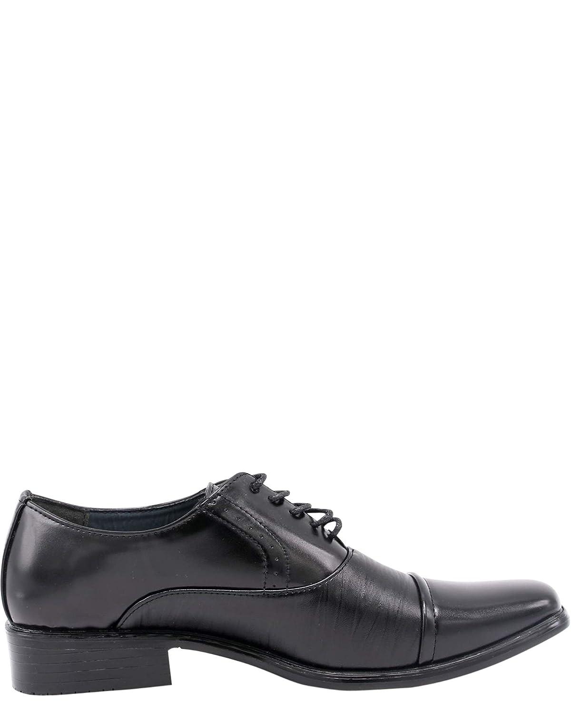 Alberto Fellini Mens Toe Cap Lace Up Dress Shoes,Black15,10.5