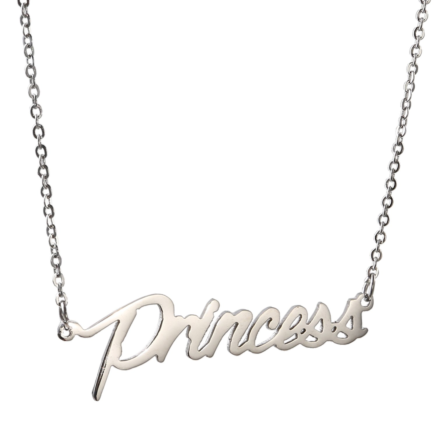 AOLO Stainless Steel Silver Tone Princess Name