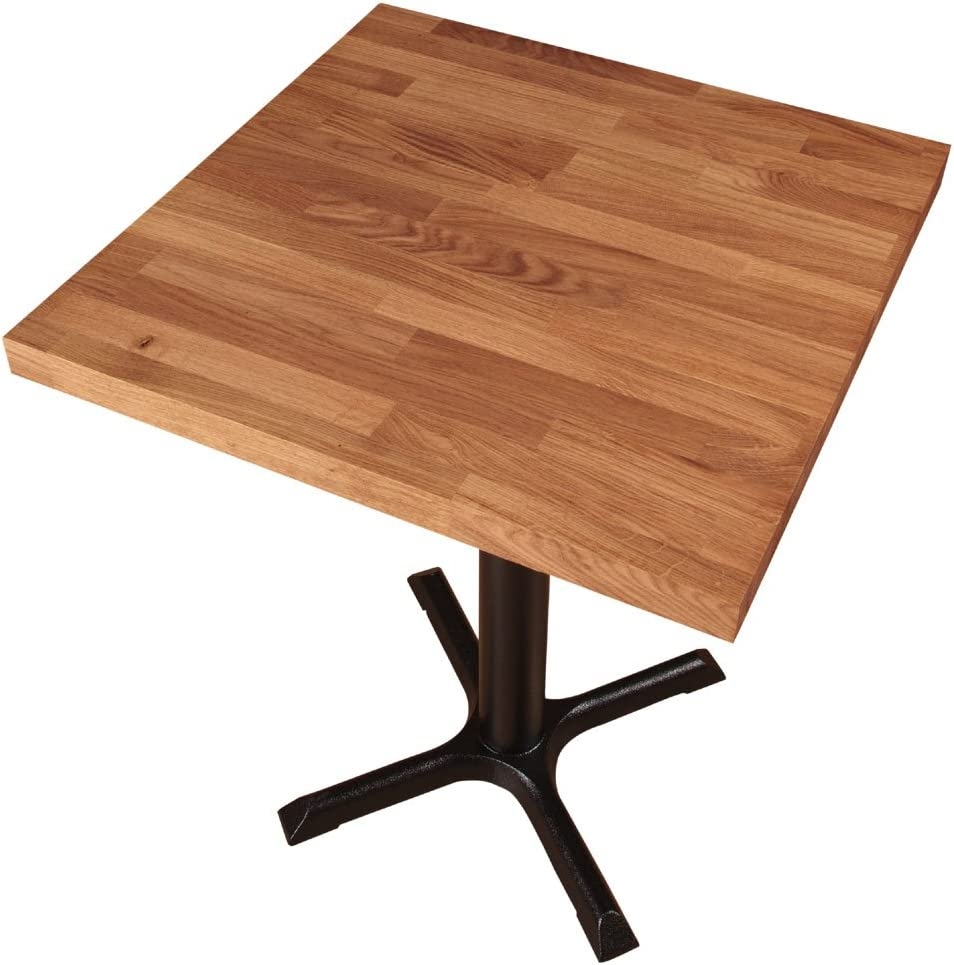 WORKTOP EXPRESS Solid Oak Wooden Kitchen//Dining Table Top Square 40mm Stave 620mm x 620mm x 40mm