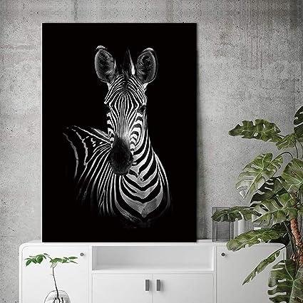 Jhljianju 1 Panel Modern Tuval Boyama Zebra Hayvan Sanat Zebra