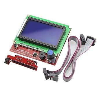 Redrex Pantalla Completa 12864 LCD Smart Display Controller para ...