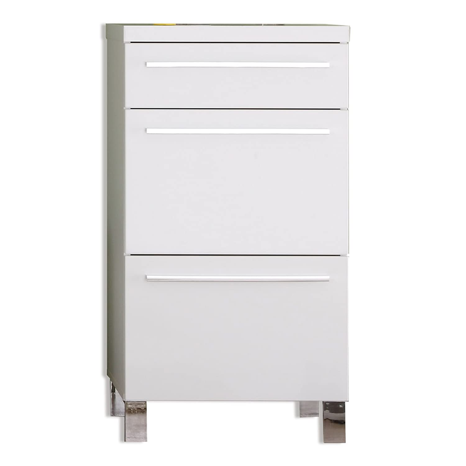 Furnline Hallway Derby High Gloss Wardrobe Cabinet, White 1412-560-01