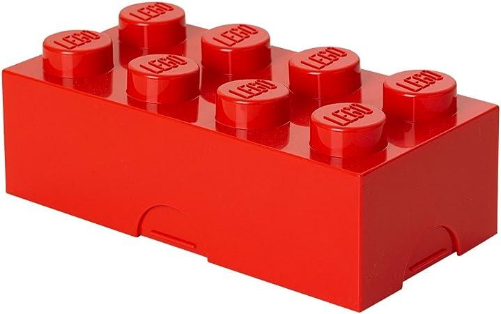 Scaffale a 3 cassetti Lego Taglia Unica Colore: Rosso