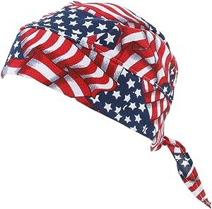 Techniche HyperKewl Evaporative Cooling Skull Cap USA Flag (Red)
