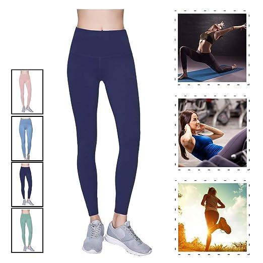 HESANA Leggings de Cintura Alta para Mujer Pantalones ...