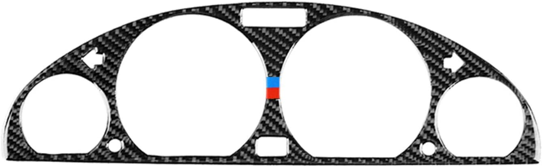HXD Carbon Fiber Frame Trim Cover Cap Case for BMW 3 Series 4th E46 M3 320i 325i 323i 328i 330i 335i 340i M3 1998-2006 (Dashboard Instrument Tachometer Speedometer, M)