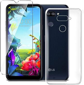 HYMY Funda para LG K40S Smartphone + 1 x Vidrio Templado ...