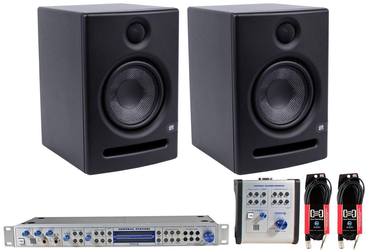 2x Presonus Eris E5 Studio Monitors+PRESONUS Central Station+Remote +FREE Cables by PreSonus