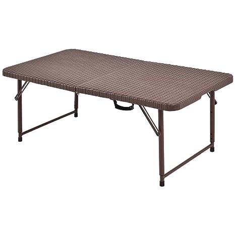 Mesa de jardín plegable mesa Camping mesa exterior maleta ...