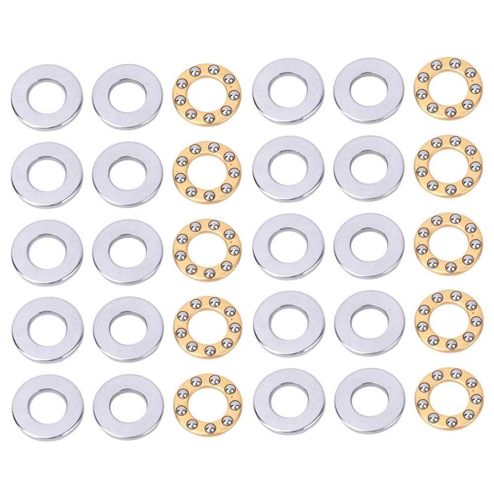 10pcs roulement /à billes de pouss/ée roulements /à billes plats miniatures de pr/écision /à grande vitesse en acier de roulement F6-14M 6 * 14 * 5mm pour la fabrication de machines 10pcs