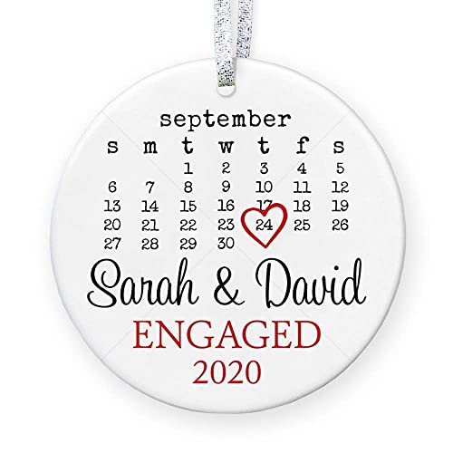 Personalized Engagement Gift Engagement Party Gift Custom Engagement Gift with Names Engaged Ornament Engagement Gift for Couples