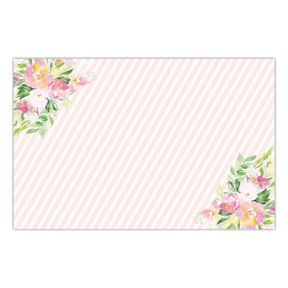 Paper Place Mats 25 Pack Bridal Baby Shower Graduation Woman's Milestone Birthday Parties Brunch Lunch Dinner Indoor Outdoor Disposable Quick Cleanup Table Setting 17