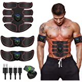 Abs Stimulator Muscle Toner, Portable Muscle Trainer, Muscle Stimulator, Abdominal Toning Belt Ultimate Ab Stimulator for Men
