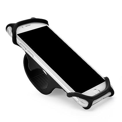 Bicicleta para móvil soporte universal soporte abrazadera Ajustable de silicona antideslizantes para cualquier smartphone con 4