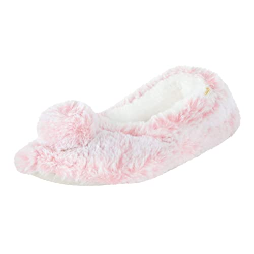 Totes Toasties - Zapatillas de Ballet para Mujer con Suela de Espuma viscoelástica de Piel sintética y Pompones, Color Rosa, Talla 40/41 EU: Amazon.es: ...
