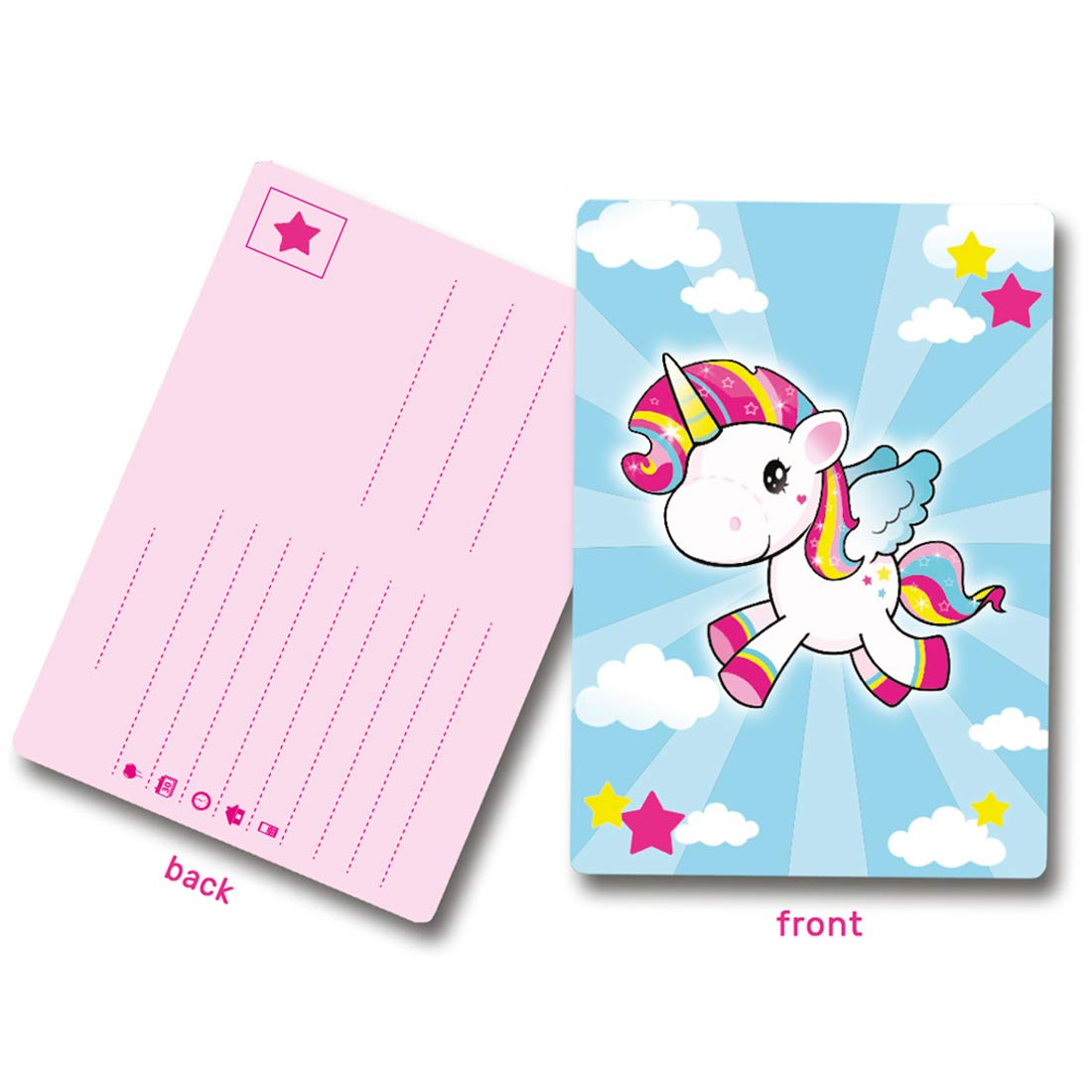 8 Invitaciones de cumpleaños unicornio / Aprox. 10 x 14 cm ...