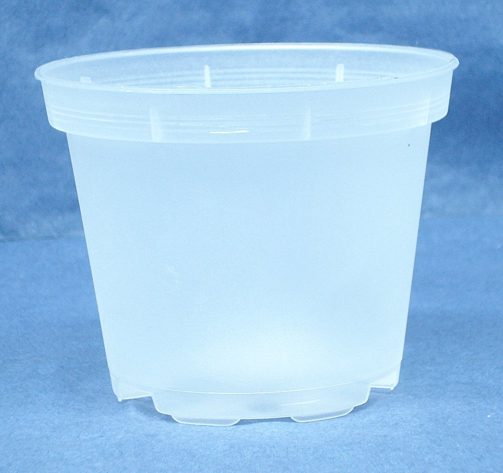 Sima Clear Plastic Pot for Orchids 3 1/2'' Diameter - Made in Germany - Quantity of 1