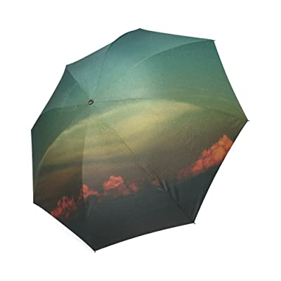 Personalized Clouds Vintage Custom Foldable Sun Rain Umbrella low-cost