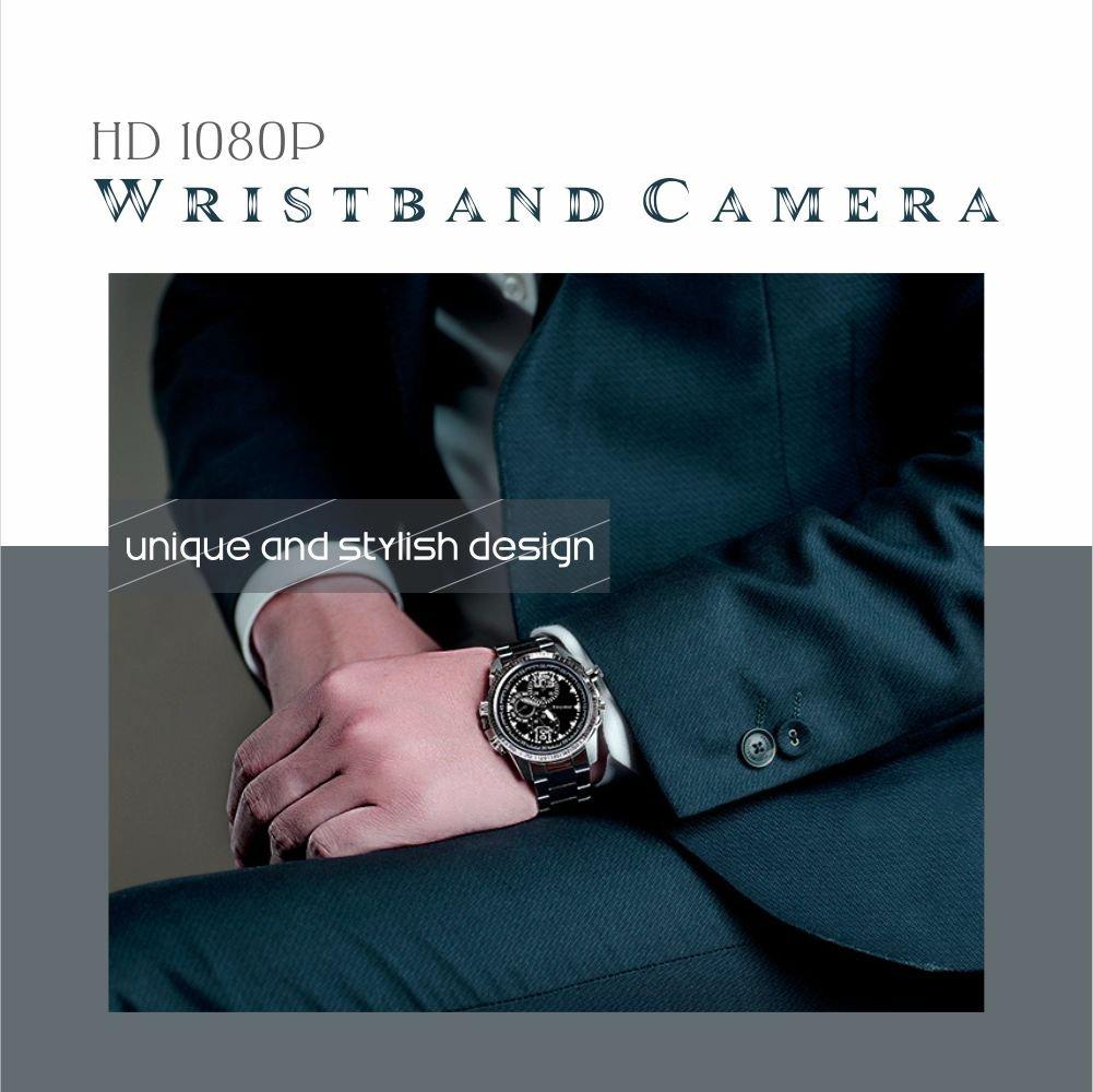 Hidden Camera HD 1080p Spy Camera Wristband Camera Portable Surveillance Camcorder with Lens-Shielded Design,Spy Security Camera Loop Video Recorder Built-in 8G Mini Nanny Cam