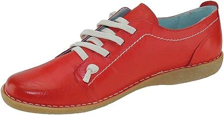 Boleta 101 Zapato Llano Casual En Piel y Cordones para Mujer