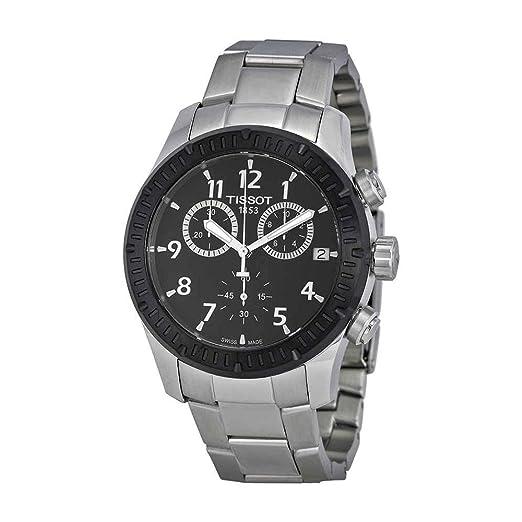 Tissot V8 - Reloj (Reloj de Pulsera, Masculino, Acero Inoxidable, Negro,