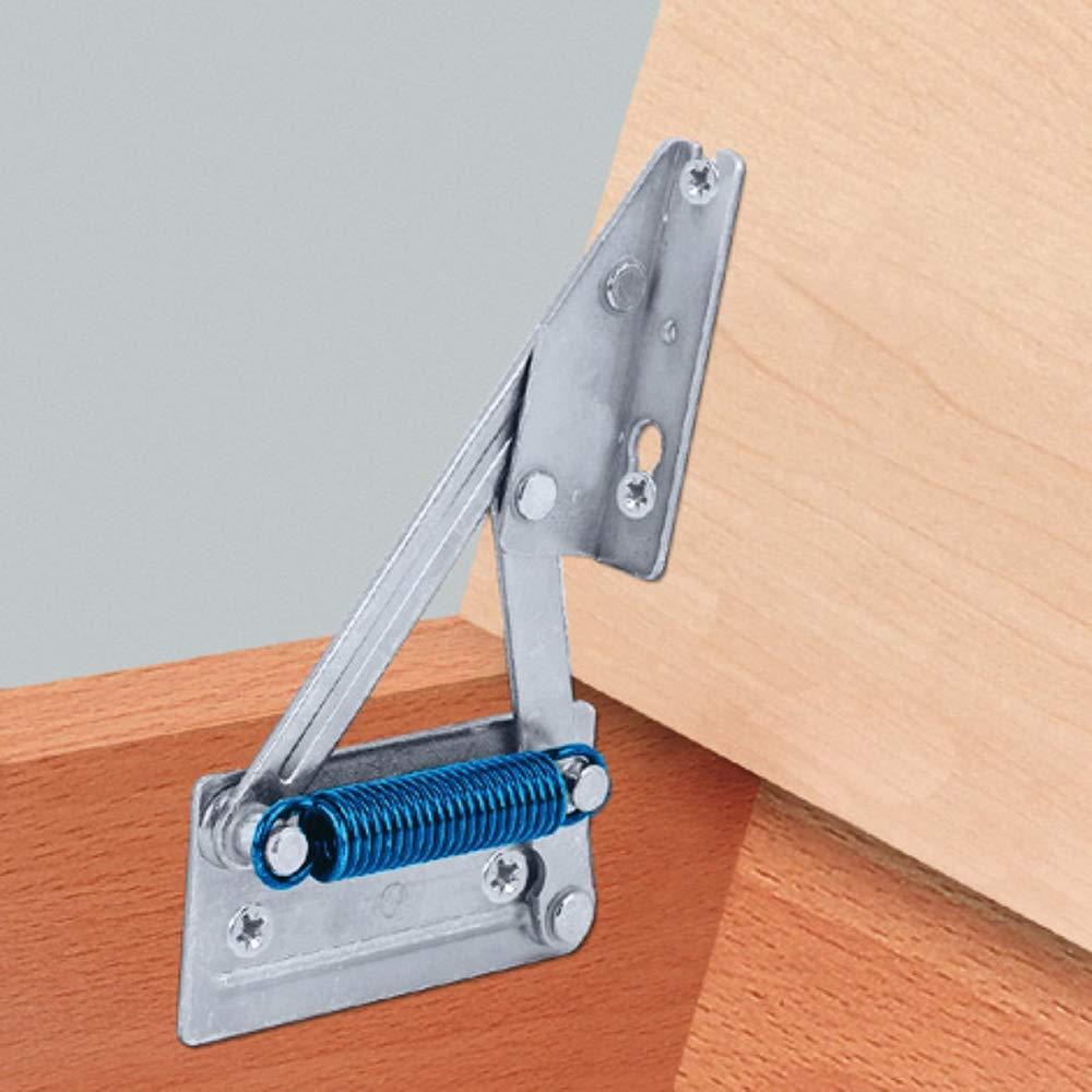 Stahl chromatiert Gedotec/® Esquina Banco Bisagra/ /Consola Tapa Soporte para Placas de Asiento de Madera con Muelle Plattengewicht bis 8 kg