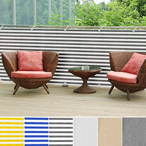 """casa pura Balcony Privacy Screening Cover 