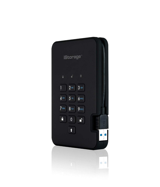 Phantom Black iStorage IS-DA2-256-SSD-1000-B 1TB diskAshur2 USB 3.1 secure portable encrypted SSD drive