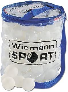 Wiemann Lehrmittel Tischtennis Bälle 100 Stück in Balltasche Ø 40mm