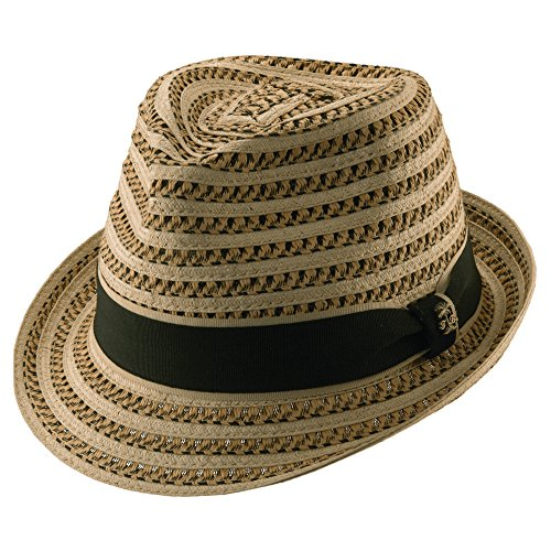 Tommy Bahama Men's Deluxe Paper Braid Fedora Hat,Beige,M (Braid Summer Hat Fedora)