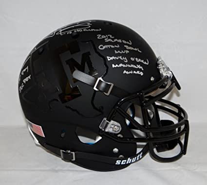61f23c50955 Image Unavailable. Image not available for. Color  Johnny Manziel Signed  Texas A M ...