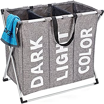 Amazon Com Sunbeam White Mesh Triple Laundry Sorter With