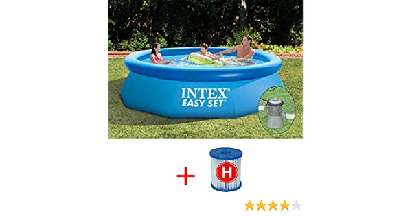 Intex Easy Set 28112 Piscina de 244 x 76 cm con bomba filtro + cartucho: Amazon.es: Jardín