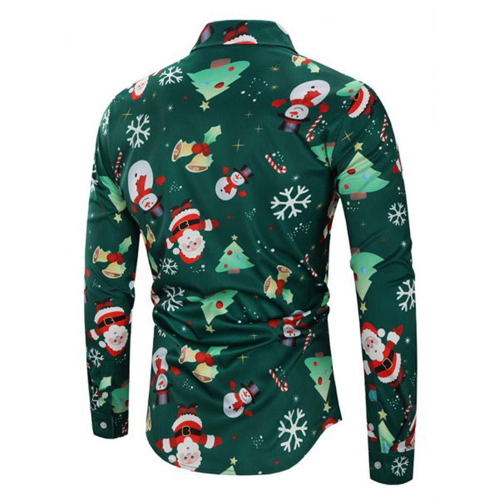 Amazon Mens Christmas Slim Fit Long Sleeve Floral Shirt Casual
