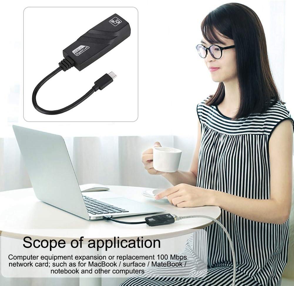 Yoidesu Type-c to Gigabit Ethernet Network Adapter Gigabit High-Speed LAN Adapter Converter