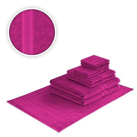 Toalla rosa en diferentes tamaños 500 g/m² alta calidad NEU/OVP, rosa
