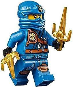 LEGO Ninjago Minifigure - Jay Zukin Robe Jungle Blue Ninja with Dual Gold Sai (70749)
