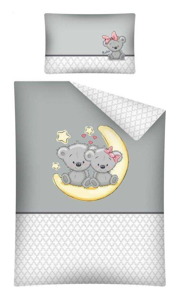 Kinderbettwäsche Bettwäsche 100x135 + 40x60 Eule 2664A Babybettwäsche Detexpol