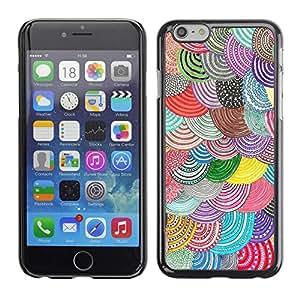 FECELL CITY // Duro Aluminio Pegatina PC Caso decorativo Funda Carcasa de Protección para Apple Iphone 6 // Barets Curcular Pattern Hand